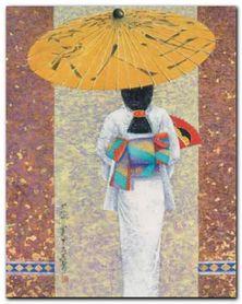Girl In Kimono I plakat obraz 40x50cm