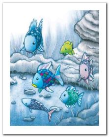 The Rainbow Fish I plakat obraz 40x50cm