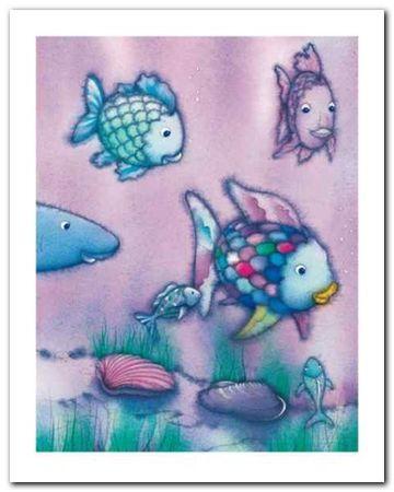 The Rainbow Fish II plakat obraz 40x50cm (1)