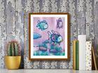 The Rainbow Fish II plakat obraz 40x50cm (3)