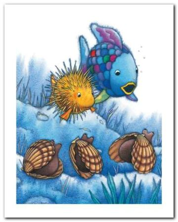 The Rainbow Fish IV plakat obraz 40x50cm (1)