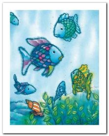 The Rainbow Fish VI plakat obraz 40x50cm