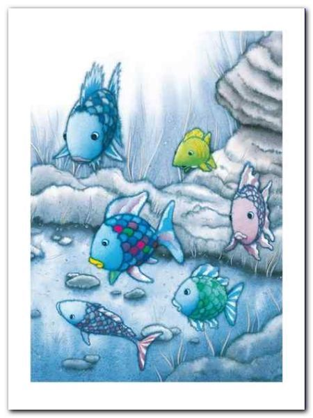 The Rainbow Fish I plakat obraz 60x80cm (1)