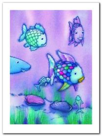 The Rainbow Fish II plakat obraz 60x80cm