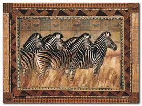 Zebras plakat obraz 80x60cm