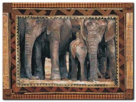 Elephants plakat obraz 80x60cm (1)