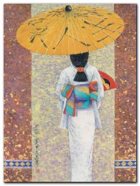 Girl In Kimono I plakat obraz 60x80cm (1)