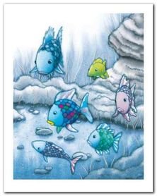 The Rainbow Fish I plakat obraz 24x30cm