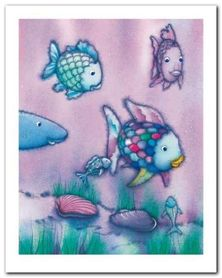 The Rainbow Fish II plakat obraz 24x30cm