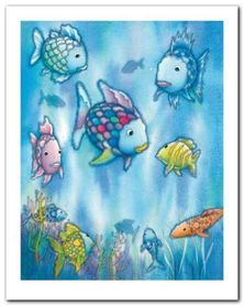 The Rainbow Fish plakat obraz 24x30cm