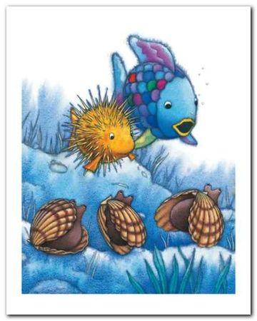 The Rainbow Fish IV plakat obraz 24x30cm (1)