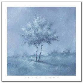 White Trees I plakat obraz 70x70cm