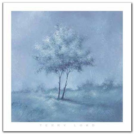 White Trees I plakat obraz 70x70cm (1)