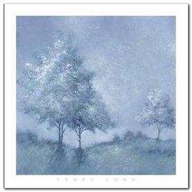 White Trees II plakat obraz 70x70cm
