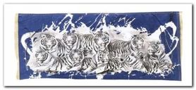 Nine White Tigers plakat obraz 50x23cm