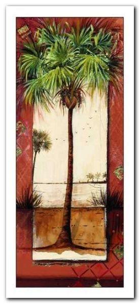 Bay Of Palms II plakat obraz 23x50cm