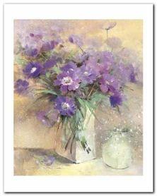 Vase Of Lilac Flowers plakat obraz 40x50cm