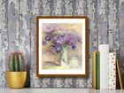 Vase Of Lilac Flowers plakat obraz 40x50cm (3)
