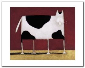 Spotted Cat plakat obraz 50x40cm