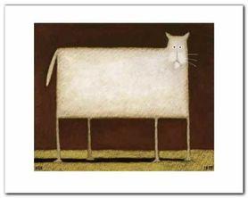 White Cat II plakat obraz 50x40cm