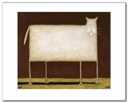 White Cat II plakat obraz 50x40cm (1)