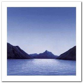 Lakescene II plakat obraz 60x60cm