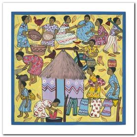 Village Life I plakat obraz 30x30cm