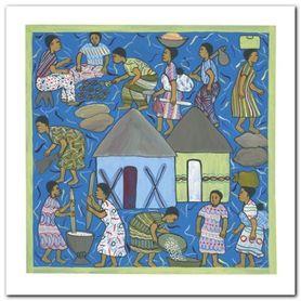 Village Life II plakat obraz 30x30cm