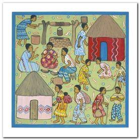 Village Life III plakat obraz 30x30cm