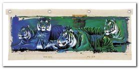 White Tigers plakat obraz 100x50cm