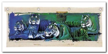 White Tigers plakat obraz 100x50cm (1)