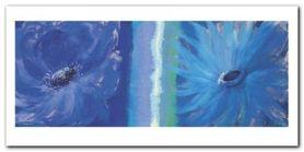 Blue Flowers plakat obraz 100x50cm