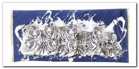 Nine White Tigers plakat obraz 100x50cm
