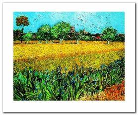 Arles Les Irises plakat obraz 60x50cm