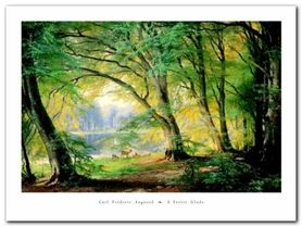 A Forest Glade plakat obraz 80x60cm