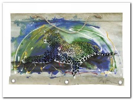 Leopard plakat obraz 80x60cm (1)