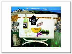 Lunch In The Luberon plakat obraz 80x60cm