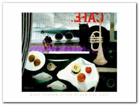 The Black Cat Cafe plakat obraz 80x60cm