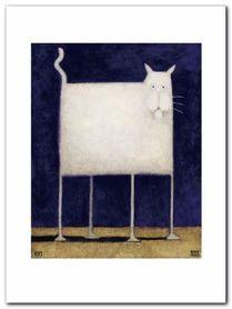 White Cat plakat obraz 60x80cm
