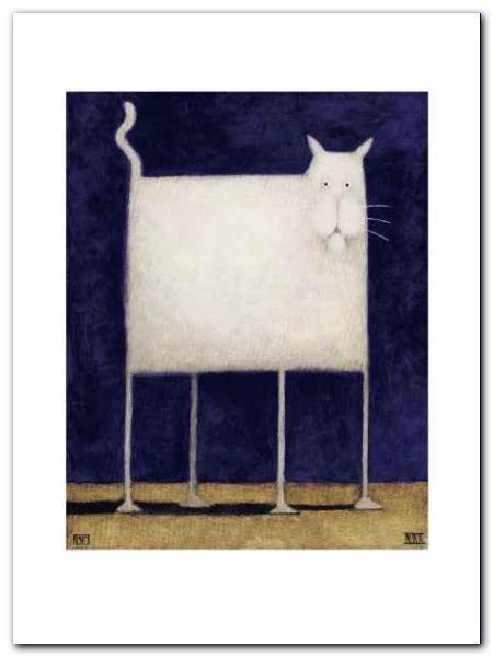 White Cat plakat obraz 60x80cm (1)