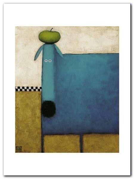 Turquoise Dog plakat obraz 60x80cm (1)
