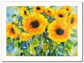 Sunflowers plakat obraz 80x60cm