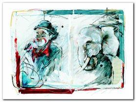 Circus Memories plakat obraz 80x60cm