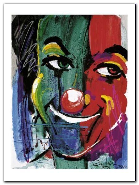 Face Of The Clown plakat obraz 60x80cm (1)