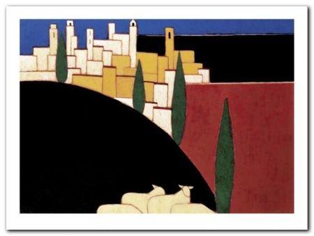 San Gimignano plakat obraz 80x60cm (1)