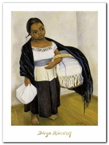 Nino Con Cesto plakat obraz 60x80cm (1)