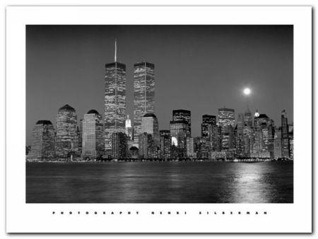 Moon Over Manhattan plakat obraz 80x60cm (1)
