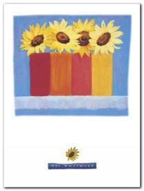 Four Sunflowers plakat obraz 60x80cm