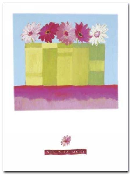 Five Pink Daisies plakat obraz 60x80cm (1)