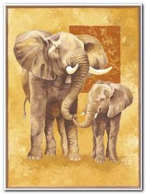 Mother Elephant plakat obraz 60x80cm